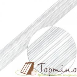 Флористическая проволока белая d=0,4мм, 100 шт