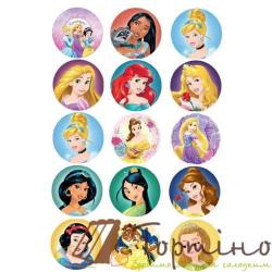 Вафельная пластина для капкейков Принцессы