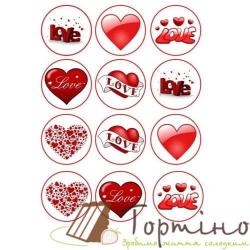 Вафельная пластина Влюбленные 6