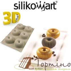 Силиконовая форма для евродесерту Mini Raggio Silikomart