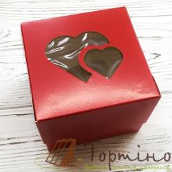 Коробка на 1 кекс Сердце (Красная)