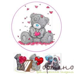 Вафельная пластина Мишка Тедди 3