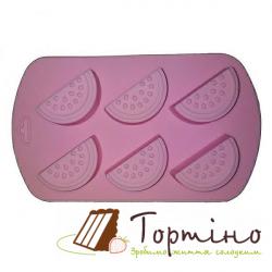 Силіконова форма для шоколаду Дольки 870-157246, 6 шт.