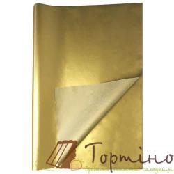 Бумага тишью Золотой металлизированный 10 шт.