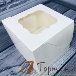 Коробка на 1 кекс Бабочка (Молочная)