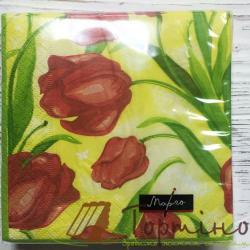 Салфетки Тюльпаны 24 * 24 см
