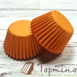 Бумажные формы для кексов d30, h24 (оранжевые), 100 шт