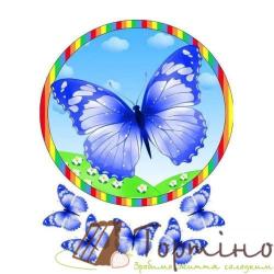 Вафельная пластина Бабочки 7