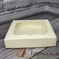 Коробка для пряника 15 * 15 * 3 см с окошечком