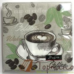 Салфетки Кофе 24 * 24 см