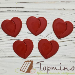 Шоколадное сердце, 5шт.