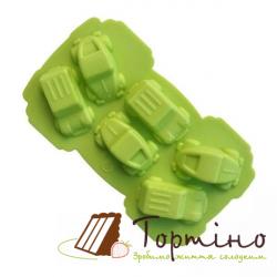 Силіконова форма для шоколаду Машинки 870-408052,6 шт.