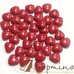"""Драже """"Сердечки красные"""" с молочным шоколадом, 100 г"""