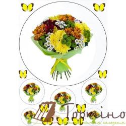 Вафельная пластина Цветы 6