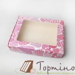Коробка для пряника 19,2 * 14,8 * 4 см Сердечки
