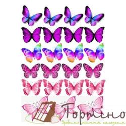 Вафельная пластина Бабочки 2