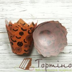 Форма для маффинов Тюльпан (Halloween), 10 шт.