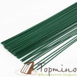 Флористическая проволока зеленая d=0,7мм, 100шт
