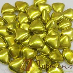 Сахарные сердечки Золотые, маленькие, 50 г