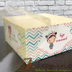 Коробка на 4 кексы Побажайкы