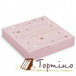 Коробка для конфет When you smile Розовая
