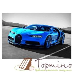 Вафельная пластина Машина Синяя