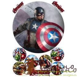 Вафельная пластина Супергерои 11