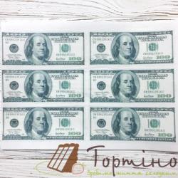 Вафельная пластина Доллары