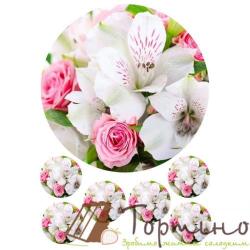 Вафельная пластина Цветы 7