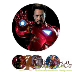 Вафельная пластина Супергерои 5