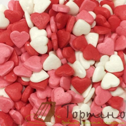 Белые и розовые сердечки, 100 г