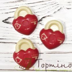 Шоколадные изделия Замочки-сердечки, 3 шт.