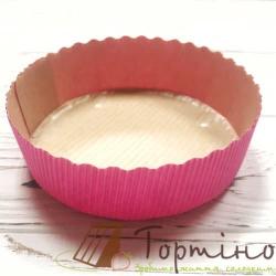 Бумажная форма для выпечки тарту (Розовая)