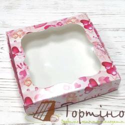 Коробка для пряника Валентинка с окошечком, 15 * 15 * 3 см