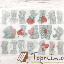 Вафельная пластина на капкейки Мешки Тедди, 19 шт.