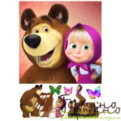 Вафельная пластина Маша и Медведь 1