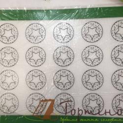 Силіконовий килимок з скловолокном 30 х 40 см трафарет Асорті