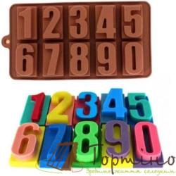 """Силиконовая форма для шоколада """"Цифры в квадрате"""""""