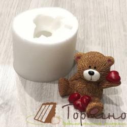 Молд 3D Медвежонок с сердечками