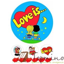 Вафельная пластина Love is ... 1