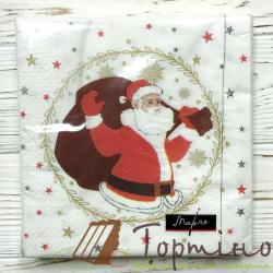 Салфетки Дед Мороз с мешком