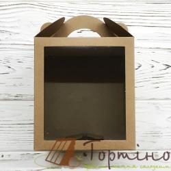 Коробка для паски з віконечком Крафт