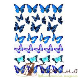 Вафельная пластина Бабочки 4