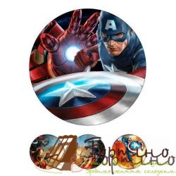 Вафельная пластина Супергерои 4