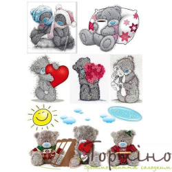 Вафельная пластина Мишки Тедди 2