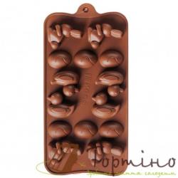 Силиконовая форма для шоколада (Заяц, яйцо, утка), 15 шт.