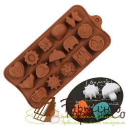 Силиконовая форма для шоколада Дворец, 15 шт.