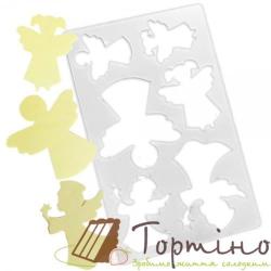 Трафарет для шоколада Ангелы 1 арт.10024