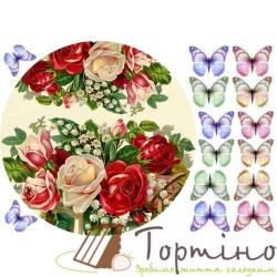 Вафельная пластина Цветы 4