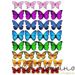 Вафельная пластина Бабочки 5
